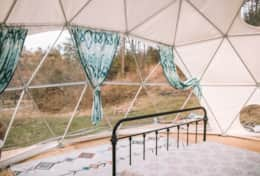 Dome 4- the star gazing dome at Asheville Glamping