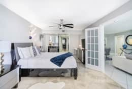 Gorgeous master bedroom, entryway to master bathroom