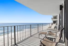 Oversize 9th floor balcony with full beach views