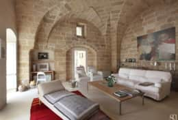 Casa del Palmarancio - large sitting room with stone vaulted ceiling - Gagliano del Capo - Salento