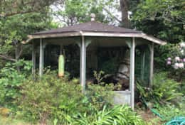 Gazebo in the front yard