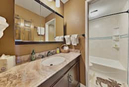 Upgraded downstairs bathroom