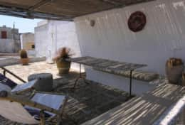 Azzurra - roof terrace with shaded dining area - Depressa di Tricase - Salento