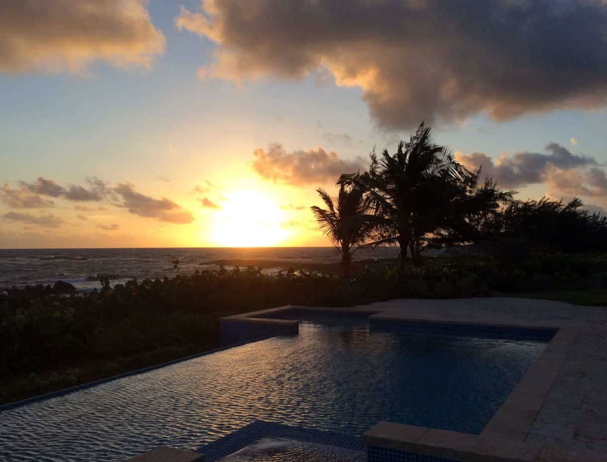 Villa XXI Exuma Sunset at the Pool