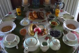 Delicious Continental breakfast or order a cooked breakfast