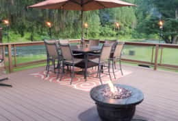 Deck With Gas Firepit