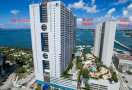 The Grand located in downtown Miami on Biscayne Bay, Sea Isles Marina, 3 miles to South Miami Beach