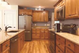 Galley Kitchen is spacious and well equipped.
