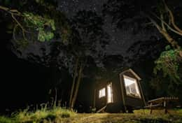 Star gazing at tiny house India -  image: Tristan Casin