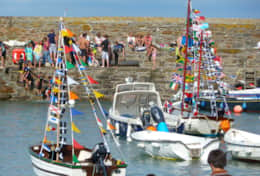 Beach regatta at Gorran Haven in late July