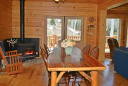 Wood stove to keep your cabin cozy
