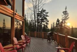 River Rd Lodge deck on warm summer evenings