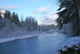 Winter down river