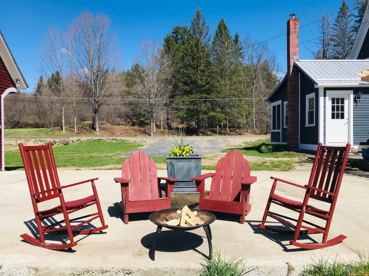 Patio Furniture and Firepit