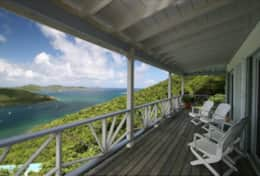 Enjoy gorgeous sunrises and evenings on the deck overlooking the Caribbean