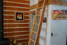 The ladder to the loft. A fun place for kids or other adults