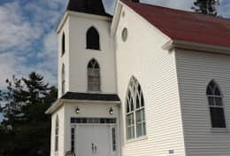 Church Entrance - www.oldchurchcottages.com - Boundary Creek,NB Location