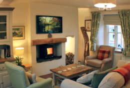 Smart TV & log burning stove
