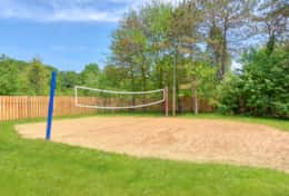 Play a game of volleyball in the soft sand court or have a sandcastle building contest!