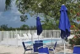 Relaxing guesthouse pool and patio area steps away from the home for outdoor fun & sun!