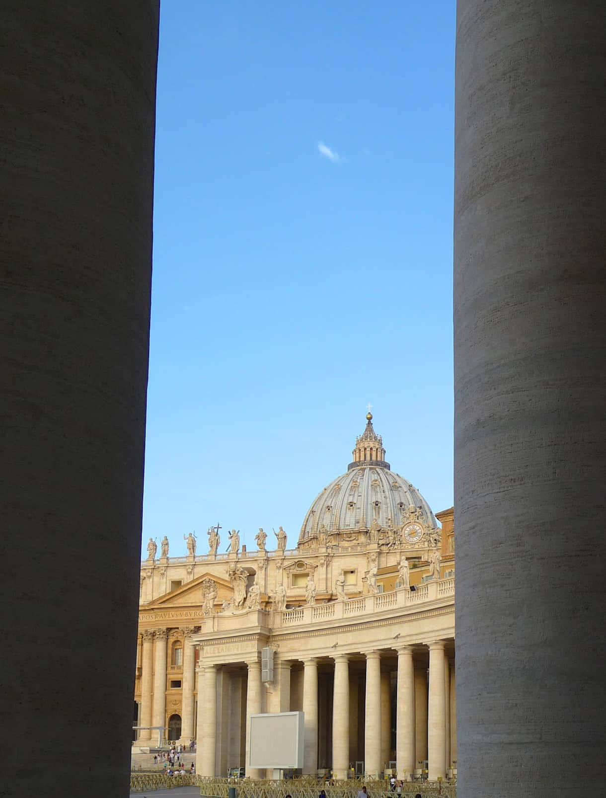 The Basilica of St. Pietro view from the colonnade.