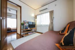 Entertainment area in living room  Tokyo Family Stays | Yoyo house| Family friendly accommodation |