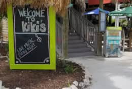 Kiki's Sandbar Grille, two minute walking distance from Barry Harbor.
