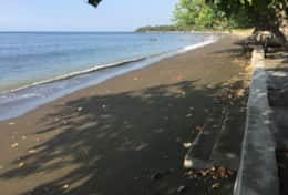 Beach view at Villa Wilali to the east