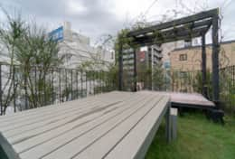 Outdoor space Azabu House| amazing location| best family stays in Tokyo |Tokyo Family Stays|