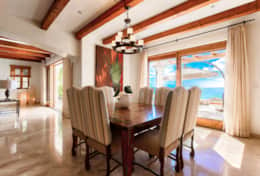 DINING AREA. Beachfront Private Villa Vacation Rentals Los Cabos