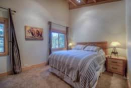 Master bedroom with private detached bathroom located on the third floor.