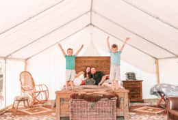Asheville Glamping Safari Tent- Plenty of room for a family