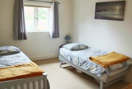 Light, airy & spacious twin room