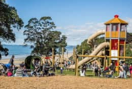 Nearby Takapuna Beach playground