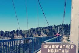 The iconic Mile High Bridge at Grandfather Mountain State Park