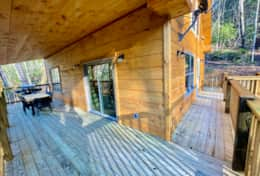 Spacious porch on 3 sides of the cabin