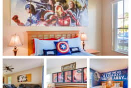 Avengers Themed Room with Private Bathroom.  Newly Renovated!