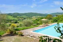 Agriturismo Gubbio with large swimming pool