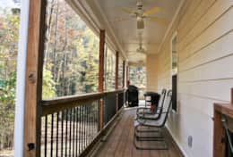 Covered Porch w/Ceiling Fans