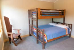 guest bed with queen bunk and twin top