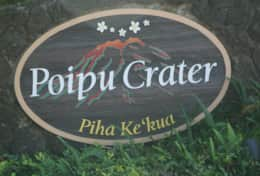 Poipu Crater Entry Sign