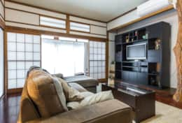 Living room and entertainment area |Samurai House Tokyo Family Stays |Spacious