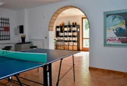 Villa Montone, basement floor with ping pong table