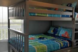 Top Tier second bedroom with trundle beds two full, one twin and board games!