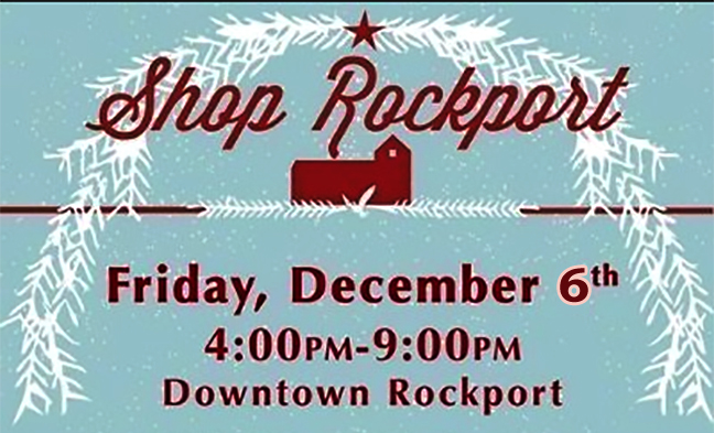 Holiday Shopping in Rockport