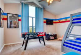 Game room with bunk bed