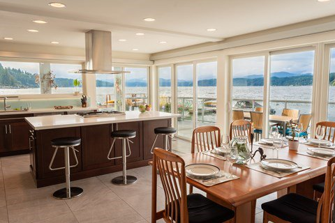 3D Tour: Walls of Glass Hood Canal Vacation Rental