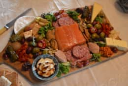 The Lodge Eatery serves delicious meals from a menu...gourmet  platters are popular