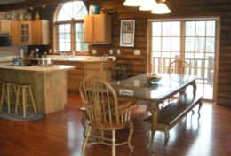 Kitchen/dining room, The Galena Log Home, Galena IL - Vacation Rental Home
