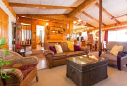 Comfortable living room at the Nut House cabin